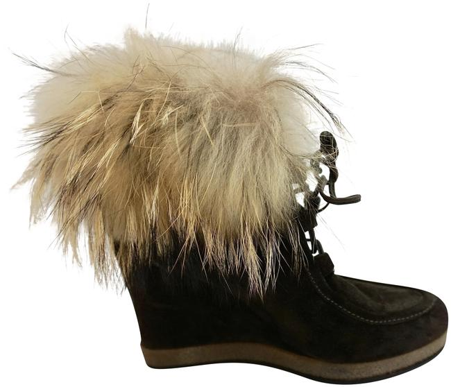 """Item - Brown """"Charlotte"""" Suede with Racoon Fur Boots/Booties Size EU 39 (Approx. US 9) Regular (M, B)"""
