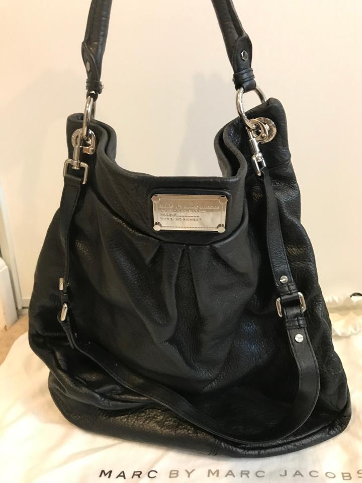 4ee89a8c7a736 Marc by Marc Jacobs Classic -q Huge Hillier Black Leather Hobo Bag ...