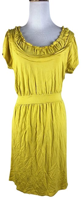 Preload https://img-static.tradesy.com/item/23198237/yellow-soft-comfy-sun-mid-length-short-casual-dress-size-8-m-0-1-650-650.jpg