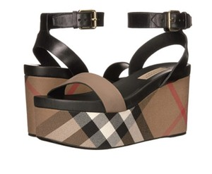 Burberry Nuneaton Signature Check Platfrom dark heather melange Wedges