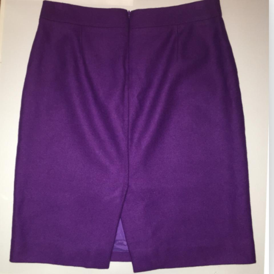 337c46aafe6e J.Crew Violet 46575-the Pencil Double Serge Wool Skirt Size 4 (S, 27) -  Tradesy
