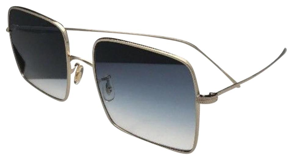 99da56f2c7e2 Oliver Peoples New OLIVER PEOPLES Sunglasses RASSINE OV 1236-S 503519 Gold  Blue Fade Image ...