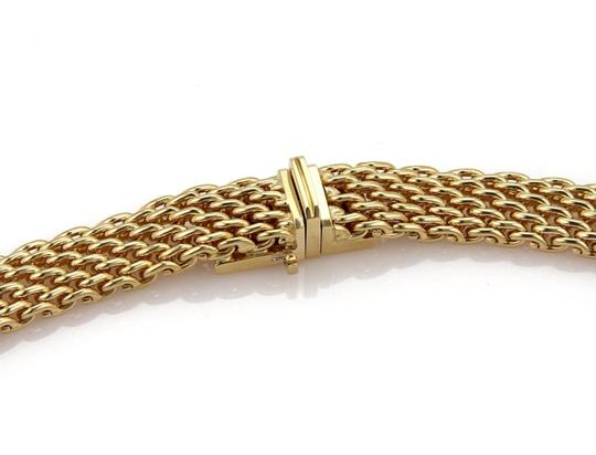 Tiffany & Co. 18k Yellow Gold 10mm Wide Mesh Design Collar Necklace Image 2