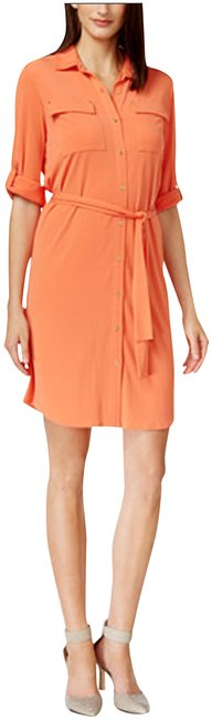 Preload https://img-static.tradesy.com/item/23198360/calvin-klein-orange-ember-roll-up-sleeve-style-no-cd5a1d8z-short-workoffice-dress-size-6-s-0-1-650-650.jpg