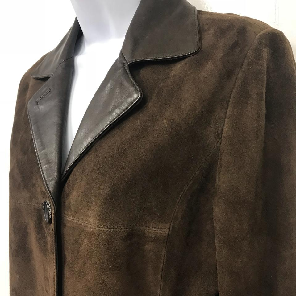 c9d974ff40b Brooks Brothers Dark Brown Suede Jacket Size 2 (XS) - Tradesy