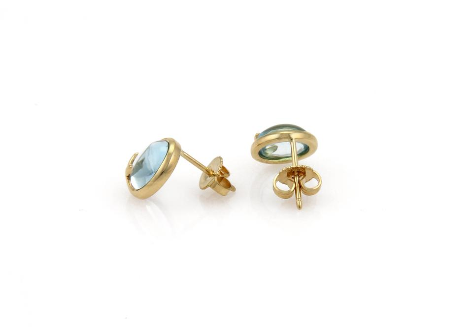 a6f252b4a Tiffany & Co. Picasso Blue Topaz Olive Leaf 18k Gold Earrings Image 0 ...