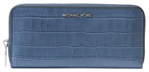 Michael Kors Michael Kors MERCER Jet Set Leather Continental Wristlet Wallet NWT