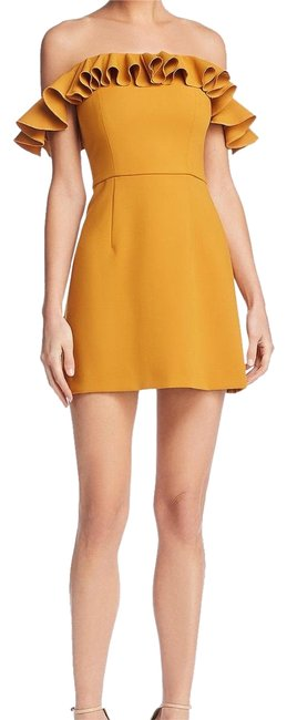 Item - Mustard Seed Whisper Off Shoulder Short Night Out Dress Size 0 (XS)