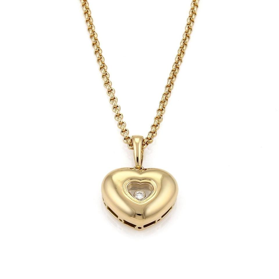 Chopard happy diamond 18k yellow gold heart pendant chain necklace aloadofball Gallery