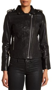 DOMA Moto Free People Biker Leather Lambskin Motorcycle Jacket