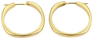 Tiffany & Co. Square Cushion Hoop 18k Yellow Gold Earrings