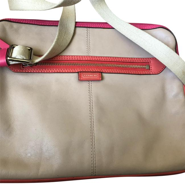 Item - Crossbody Crossbody/Shoulder For Ipad Beige Pink Leather Laptop Bag
