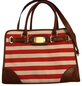 Michael Kors Satchel in Red and white