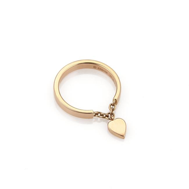 Item - 21933 - W Mon Amour 18k Rose Gold Heart Charm Band W/Certificate Ring