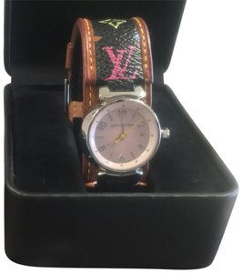 Louis Vuitton LOUIS VUITTON Murakami Tambour Watch and Bracelet - Multicolor Black