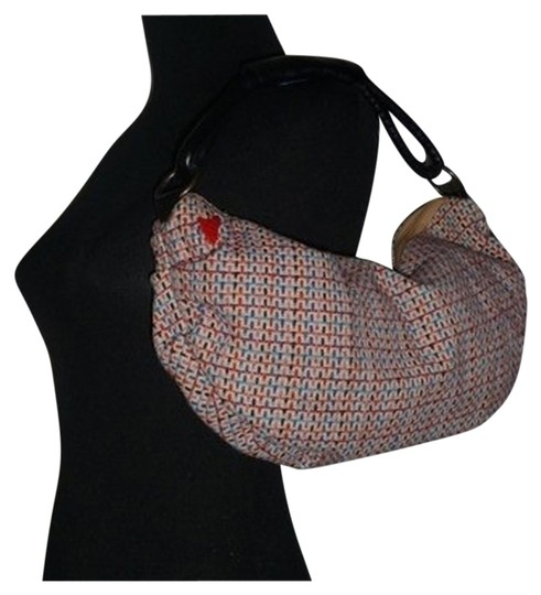 Preload https://item4.tradesy.com/images/t-bags-los-angeles-ruched-tweed-mini-crescent-multicolor-textile-leather-handle-hobo-bag-2319878-0-4.jpg?width=440&height=440