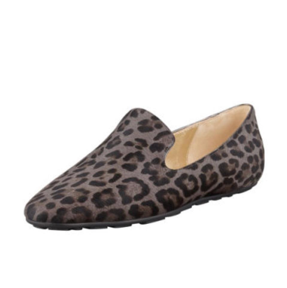 62e2cdfa56b Jimmy Choo Brown Dark Grey Black Wheel Leopard Print Calf Hair ...
