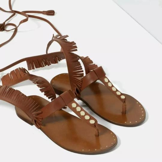 Zara brown Sandals Image 2