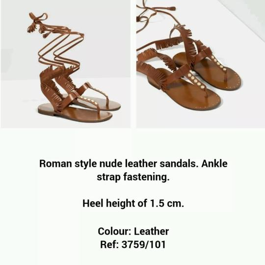 Zara brown Sandals Image 4