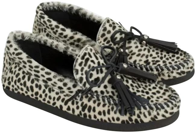 Zara Leather Animal Print Moccasin Flats Size US 6 Regular (M, B) Zara Leather Animal Print Moccasin Flats Size US 6 Regular (M, B) Image 1