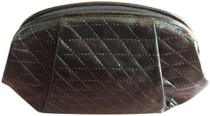 Furla Quilted Leather Cosmetic Vintage black Clutch