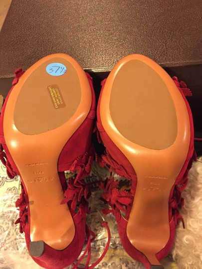 Alaia Red Sandals Image 3