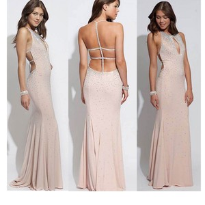 Jovani Cut Out Blush Sz12 Dress