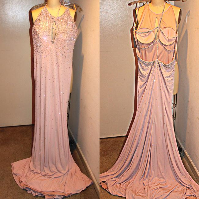 Jovani Cut Out Blush Sz12 Dress Image 1