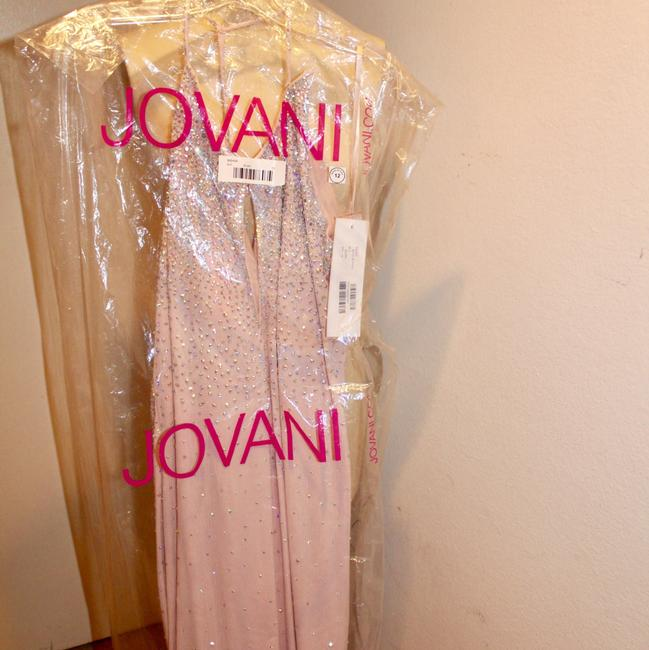 Jovani Cut Out Blush Sz12 Dress Image 2