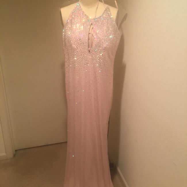 Jovani Cut Out Blush Sz12 Dress Image 5