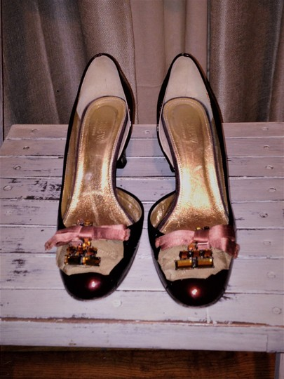 J.Crew Collection Patent Leather Red Wine Pumps Image 1