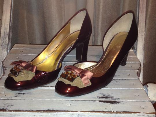 J.Crew Collection Patent Leather Red Wine Pumps Image 2