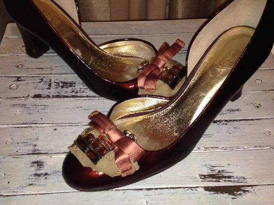 J.Crew Collection Patent Leather Red Wine Pumps Image 7
