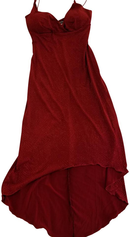 c294df5e City Triangles Red Glitter Mid-length Cocktail Dress Size 4 (S ...