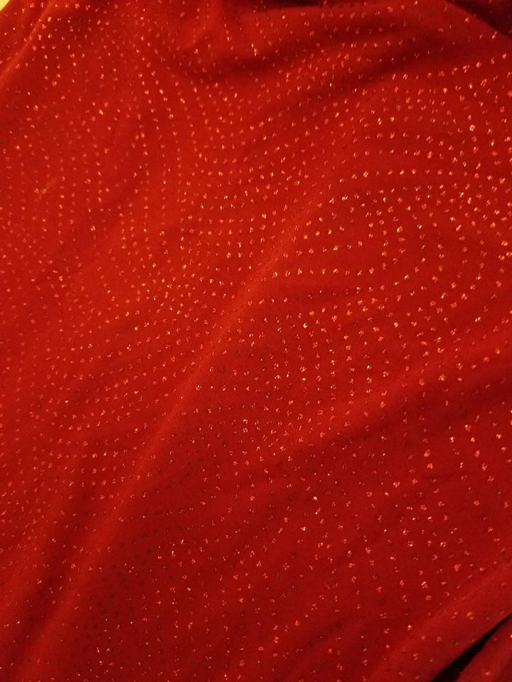 b3ee1d47 City Triangles Red Glitter Mid-length Cocktail Dress Size 4 (S) - Tradesy