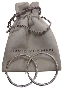 David Yurman David Yurman Cable Classics Large Hoop Earrings 1.5""