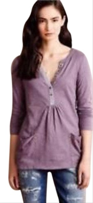 Preload https://img-static.tradesy.com/item/23199555/anthropologie-purple-canantha-pocket-henley-tunic-size-8-m-0-2-650-650.jpg