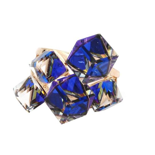 Ocean Fashion Blue square ring earrings set Image 10