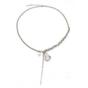 Ocean Fashion Fashion natural Pink crystal necklace