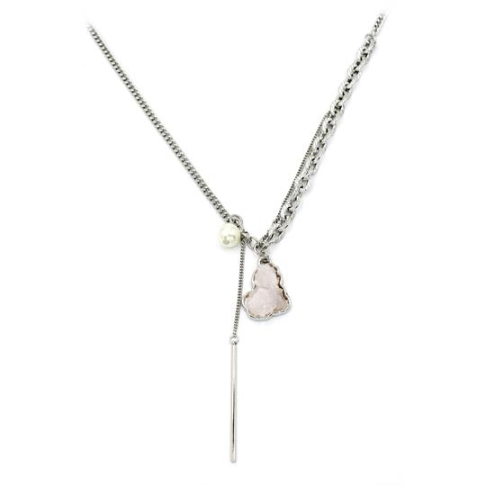 Ocean Fashion Fashion natural Pink crystal necklace Image 2