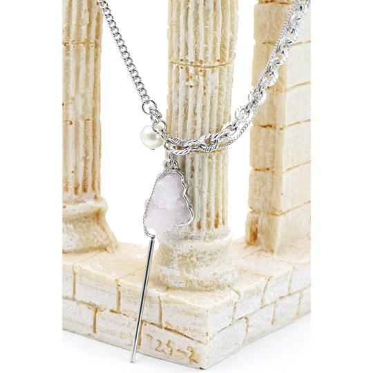 Ocean Fashion Fashion natural Pink crystal necklace Image 4