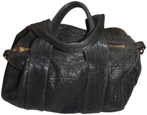Alexander Wang Purse Handbag Satchel in Black/gold tone