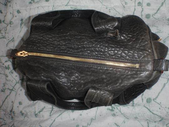 Alexander Wang Leather Purse Handbag Satchel in Black/gold tone