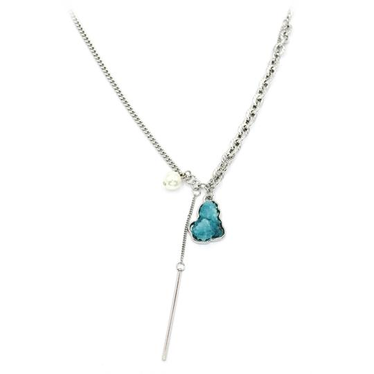 Ocean Fashion Fashion natural Blue crystal necklace Image 1