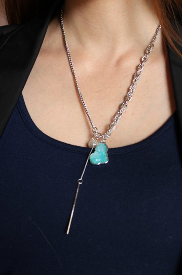 Ocean Fashion Fashion natural Blue crystal necklace Image 2