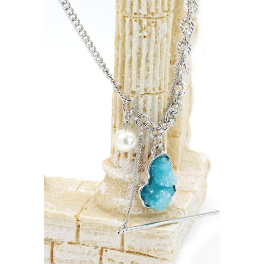 Ocean Fashion Fashion natural Blue crystal necklace Image 3