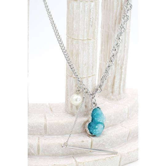 Ocean Fashion Fashion natural Blue crystal necklace Image 4