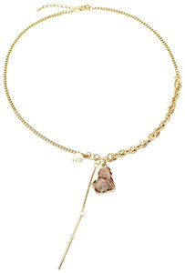 Ocean Fashion Fashion natural Gold crystal necklace