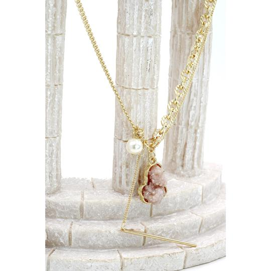 Ocean Fashion Fashion natural Gold crystal necklace Image 4