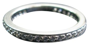 Tiffany & Co. Tiffany & Co Platinum Legacy Diamond Milgrain Band Ring Size 5